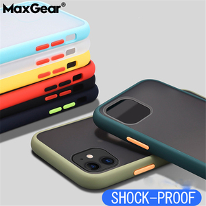 Image 1 - Stoßfest Transparente Hybrid Silicon Telefon Fall Für iPhone 12 Mini 11 Pro Max X XS XR Max 8 7 6 S Plus SE Klar weiche Rückseitige Abdeckung