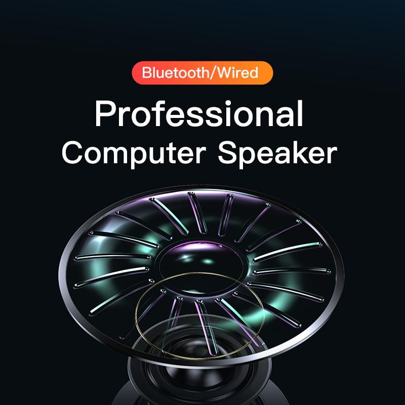 3D Computer Speakers Bluetooth 5.0 Wired Loudspeaker Surround Soundbar Speaker Stereo Subwoofer Sound bar for Laptop Notebook PC 4