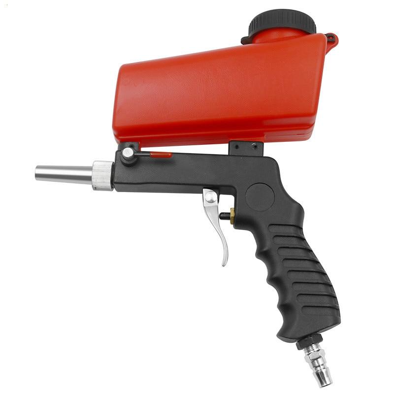 NEW Pneumatic Air Brush Sand Hand Blasting Gun Portable Pneumatic Airbrush Car Air Paint Spray Gun Hopper Paint Sprayers Coating