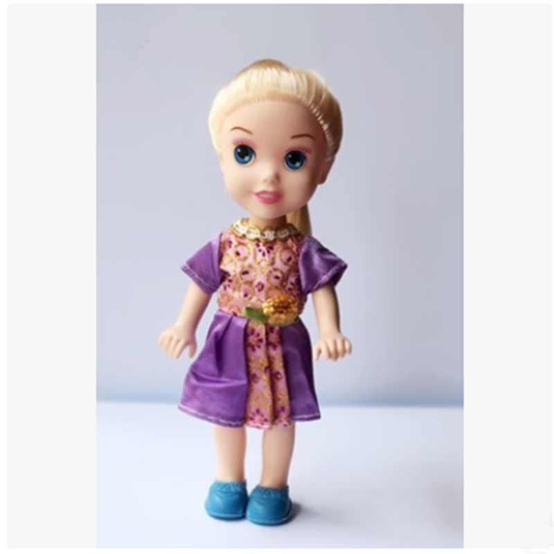 Disney 6.5 นิ้วสไตล์หิมะตุ๊กตาเจ้าหญิง Anna Aisha เสื้อผ้าเปลี่ยนสาววันเกิด/คริสต์มาสของขวัญ
