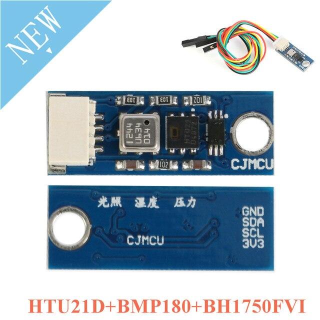 HTU21D + BMP180 + BH1750FVI מודול מזג אוויר חיישן ולחות לחץ תאורה חיישן CJMCU אור חיישנים