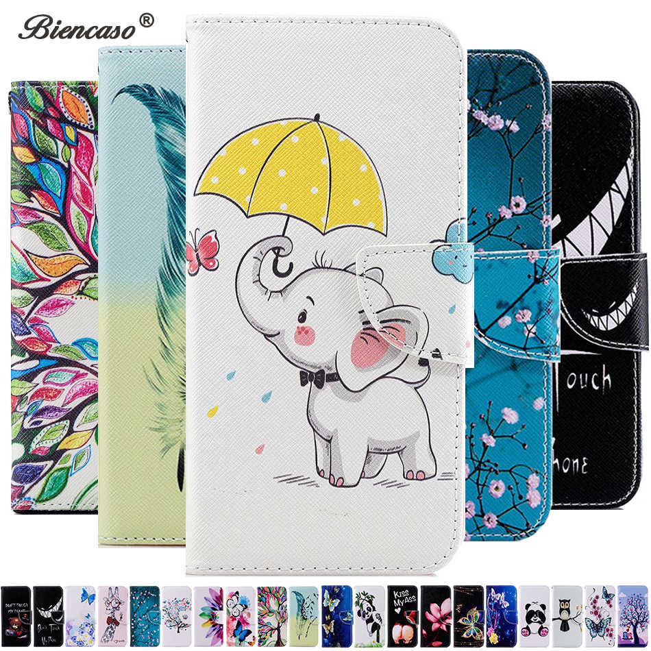 P smart 2019 panda tree carteira de couro do caso da aleta para huawei honor 10 p30 p20 pro p10 lite nova 3i p smart plus funda capa b116