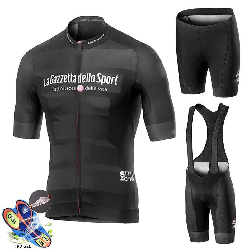 Koszulka kolarska profesjonalna odzież do kolarstwa drużynowego garnitury MTB odzież rowerowa zestaw spodenek castellieing mężczyźni rower Ropa Ciclismo Triathlon