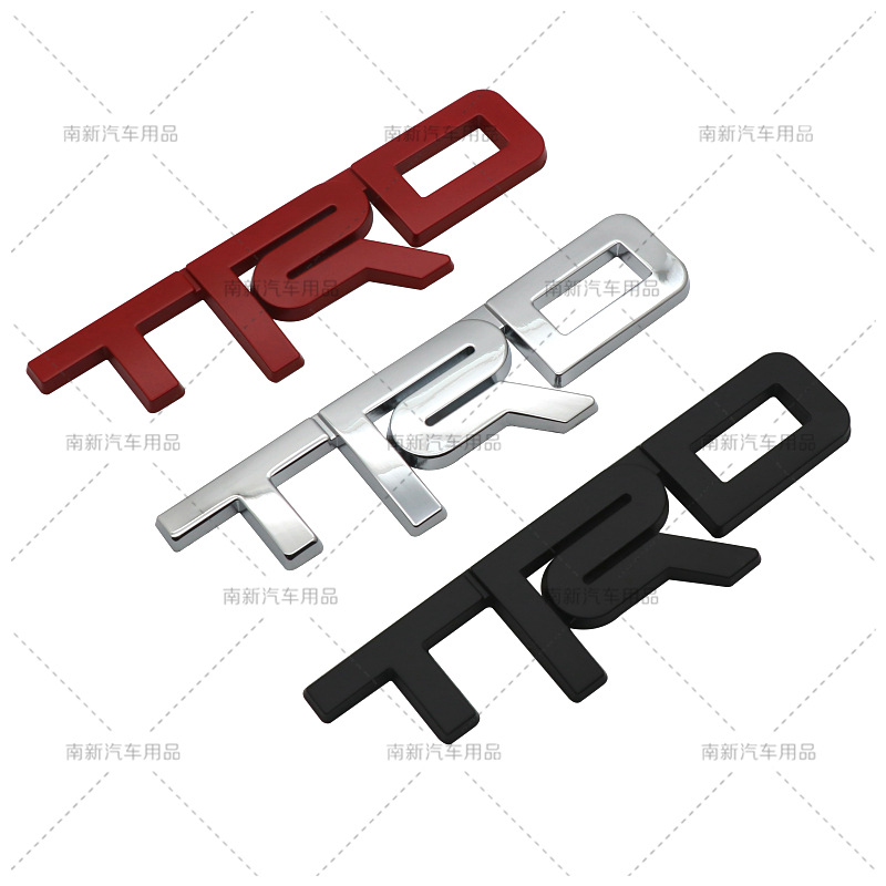 New Style Metal TRD Metal Sticker Modified Body Labeling Cool Trunk Tail Stickers