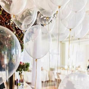 Image 2 - 5/10/12/18/24/36 インチ厚さの透明なラテックス風船透明風船ウェディングパーティー誕生日デコレーションインフレータブル空気ボール