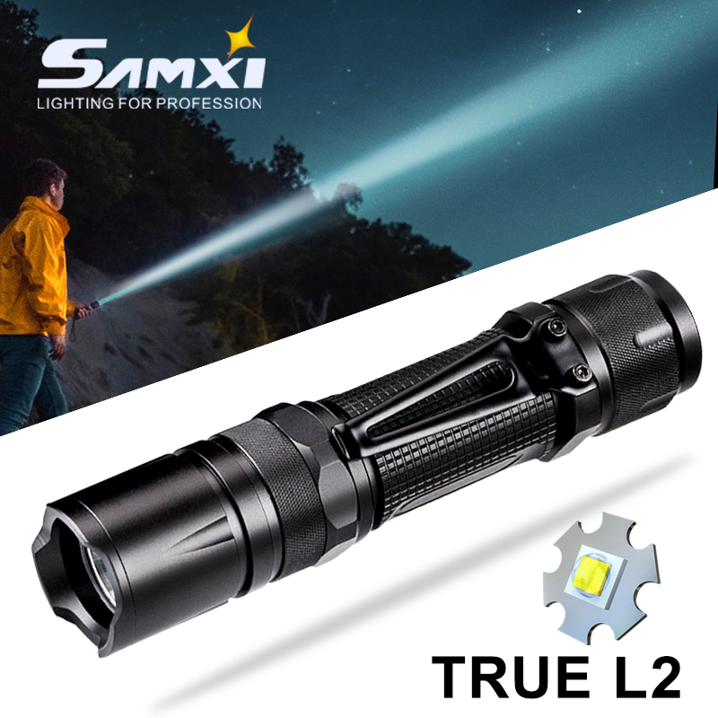 L2 Power Brightness LED Flashlight WIth Tactical Flashlight Button Waterproof Linterna 3 Lighting Modes Used By 18650 For Bike