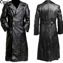 CYSINCOS Button Closure Leather Jacket Top Quality