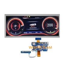 Wisecoco 12.3 polegada painel lcd painel painel de instrumentos painel 1920x720 ips tft expositor barra esticada lvds tipo c placa controle