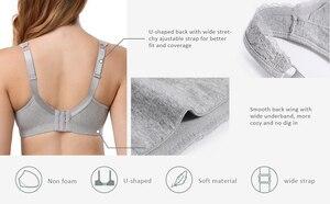 Image 4 - Dotvol כותנה חזייה נוחות Bralette מלא כיסוי הלבשה תחתונה Wirefree בתוספת גודל חזייה Soutien Feminino BH לא קצף C D E F כוס