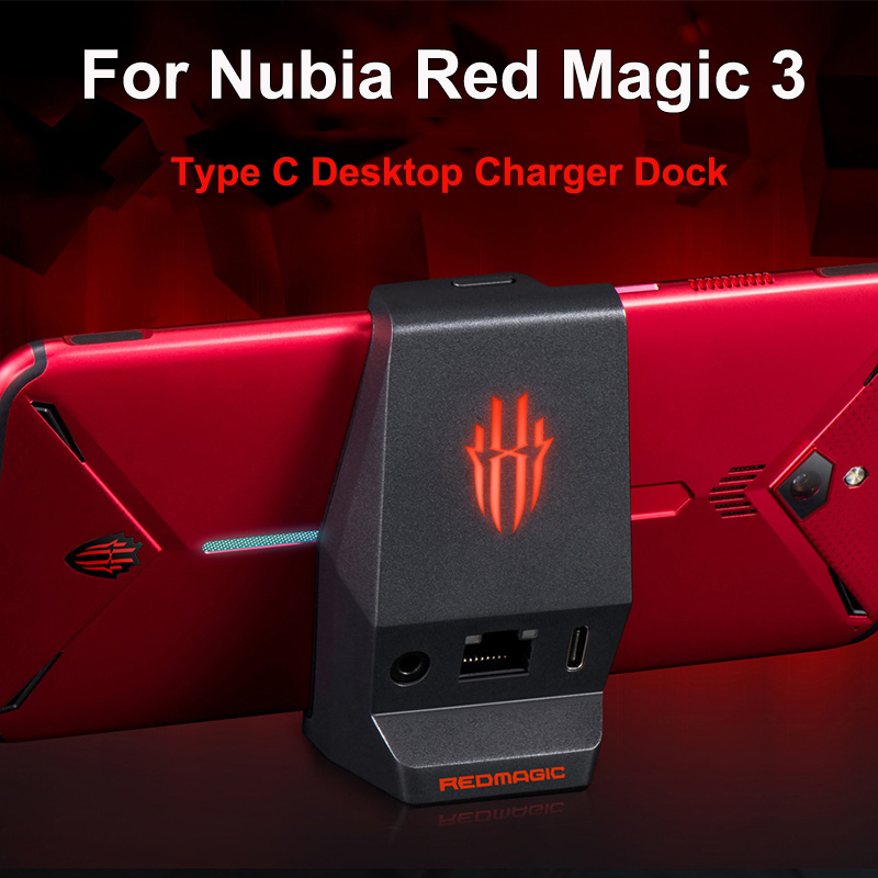 Desktop Dock Cradle Charger for Nubia Red Magic 3 Phone 3.5mm Earphone Type C Charging Dock Station red magic3 Original Charger