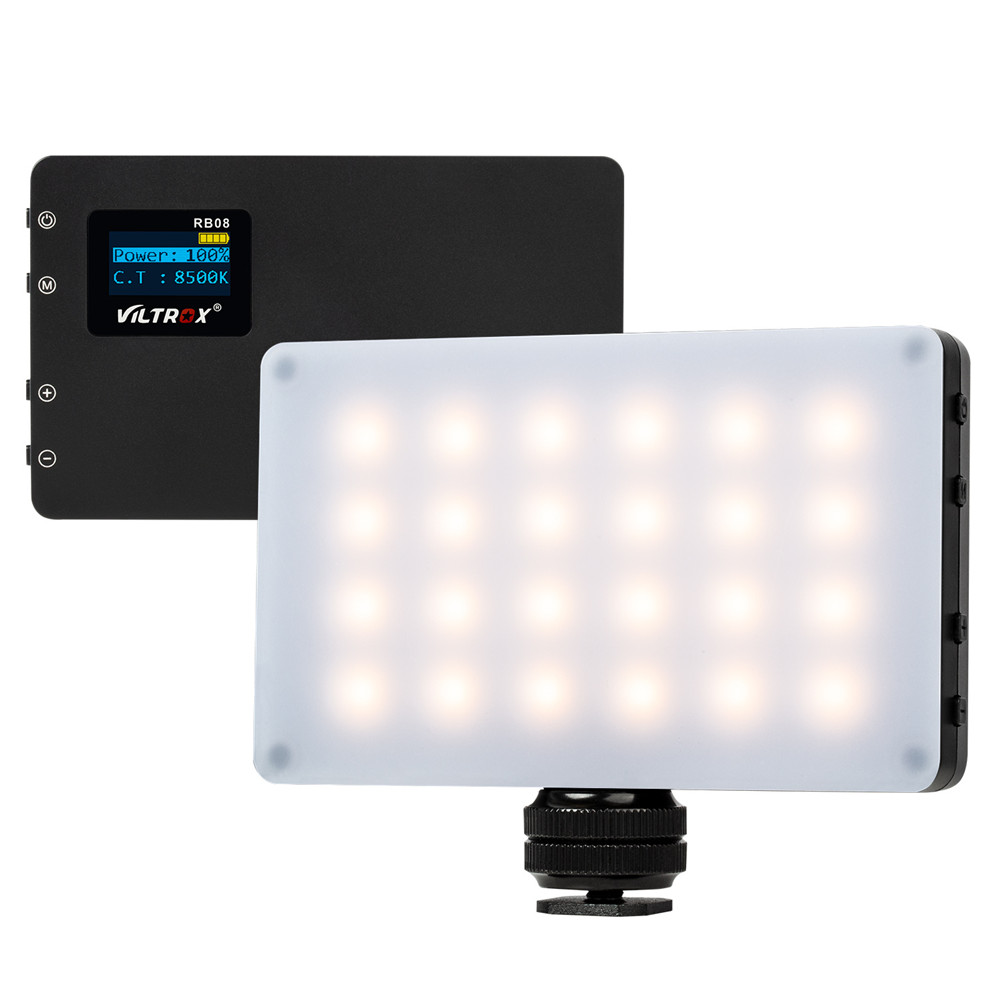 Viltrox RB08 Bi-color 2500K-8500K Mini Video LED Light Portable Fill Light Built-in Battery for Phone Camera YouTube live image