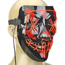 1Pc Halloween Rave Purge Masks Horror led Mask El Wire Light up Mask for Festival Cosplay Costume Decor  Funny Election Party drama performance decor neon led strip prom mask luminous christmas cosplay light up el wire costume mask for festival party