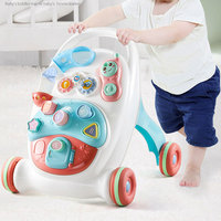 6 18 Months Toddler Baby Walker Toy First Step Car Multi Function Trolley Walker Sit to Stand Musical Walker Adjustable Screw