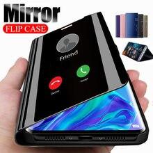 Espelho inteligente Do Caso Da Aleta Para Samsung Galaxy A51 A71 A10 A40 S20 S8 S9 S10 A50 A70 A31 A21 Note10 20 8 9 Plus Pro M31 M51 M21 Capa