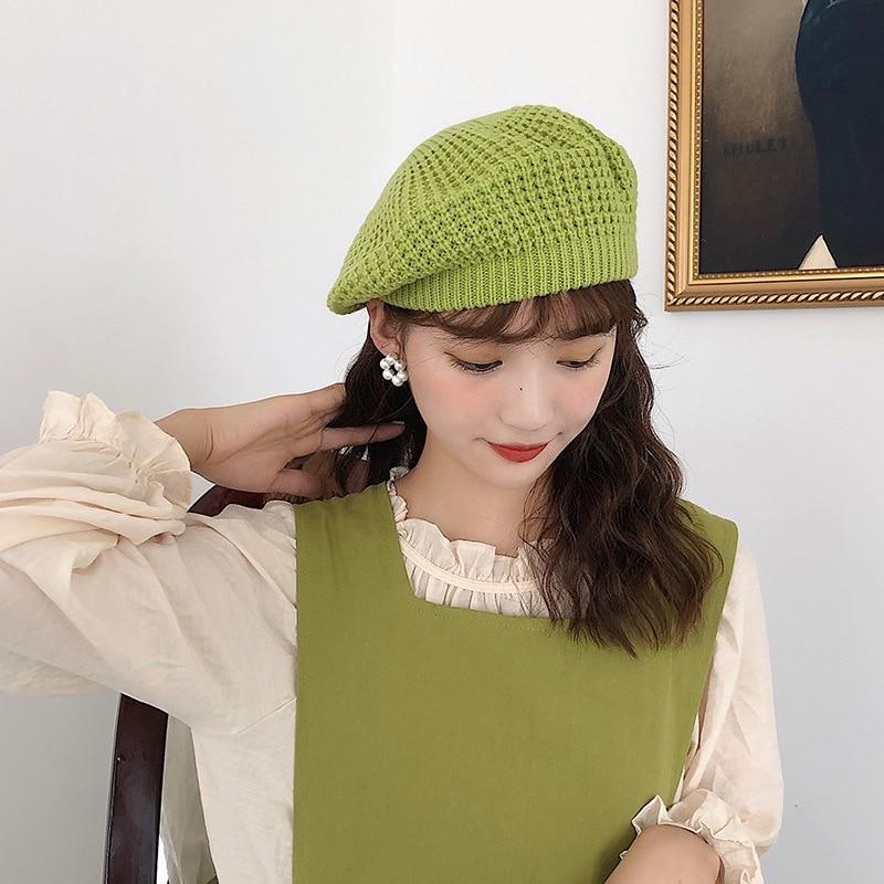 Boina chapéu de boina de inverno para mulheres boina de feltro chapéu de boina de feltro