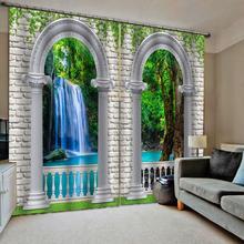 3D Curtain Luxury Blackout Window Living Room roman waterfall curtains curtain
