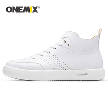 Skateboarding Shoes Leather Sneakers ONEMIX Women Classic Lace-Up Brand Flat Low Lightweight