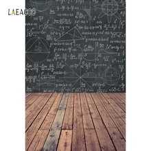 Laeacco Back to School Photophone Geometric Patterns Wooden Floor Photography Backdrops Photo Backgrounds Student Photozone Prop