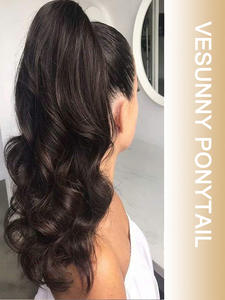 Vesunny Extensions Magic-Tape Highlights-Color 100%Human-Hair Around Wrap with Comb 14inch-22inch