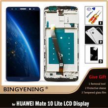 Oryginalny dla Huawei Mate 10 Lite wyświetlacz LCD ekran dotykowy Digitizer zgromadzenie dla Huawei Nova 2i honor 9i RNE-AL00 G10 Plus tanie tanio BINGYENING CN (pochodzenie) Pojemnościowy ekran 3 For Huawei Nova 2i honor 9i RNE-AL00 G10 Plus LCD i ekran dotykowy Digitizer
