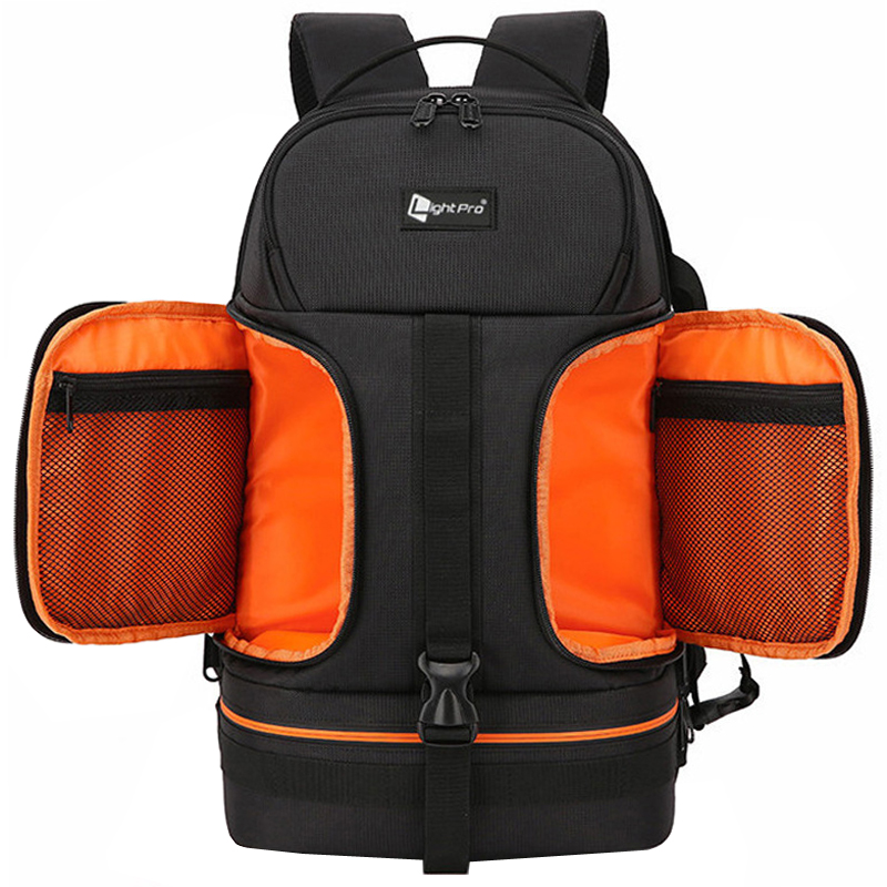 Video Waterproof Camera Shoulders Backpack w Reflector Stripe fit 15 6 inch Latptop Shockproof Soft Padded Tripod Case Photo Bag