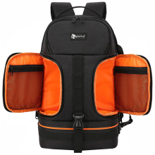 Video Waterproof Camera Shoulders Backpack w Reflector Stripe fit 15.6 inch Latptop Shockproof Soft Padded Tripod Case Photo Bag