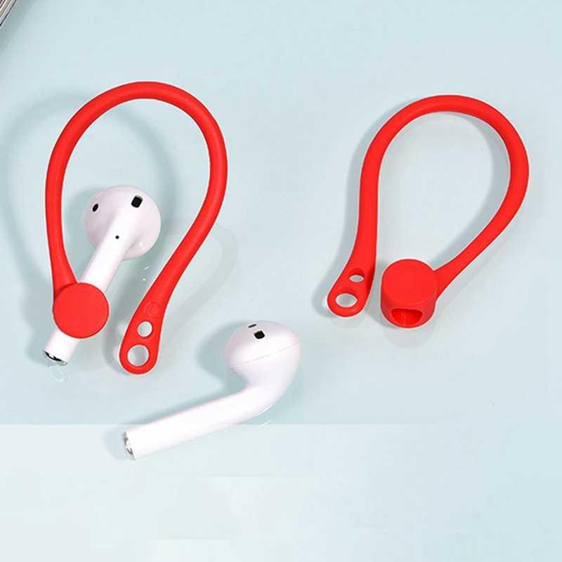 1 para nowe miękkie silikonowe antypoślizgowe uchwyt na pasek Bluetooth ucha strąki bezprzewodowy ucha haki do Apple AirPods słuchawki Earpods