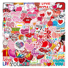 50/100pcs Valentine Stickers For Notebook Car Laptop Scrapbooking Material Adesivos Craft Supplies Vintage Pink Love Sticker