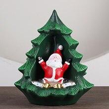 Christmas-Santa-Claus-Incense Burner Snowman Xmas Tree Incense Holder Creative for Room Teahouse Home Decor Use