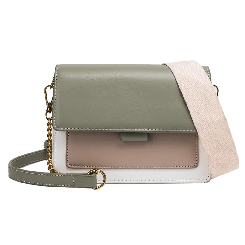 Mini Leder Umhängetaschen Für Frauen 2020 Grün Kette Schulter Messenger Bag Lady Reise Geldbörsen und Handtaschen Kreuz Körper Tasche 6