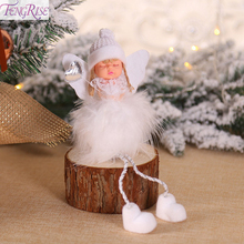 FENGRISE Christmas Cute Angel Doll Decoration For Home Merry 2019 Xmas Gifts Kids New Years