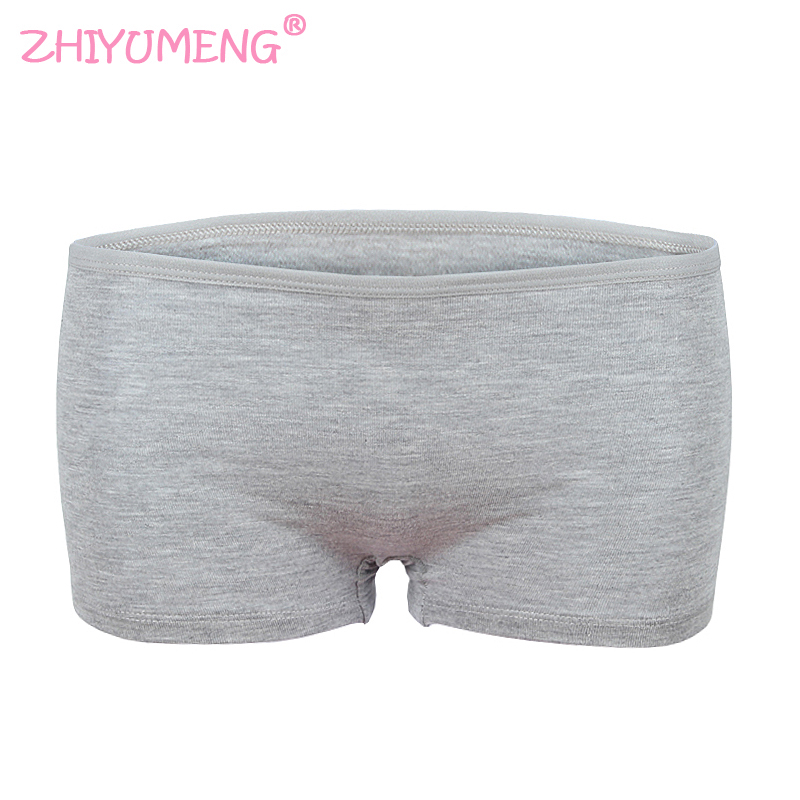 Little Big Girls' Short Sport Panty Solid Color 8-14 Years Cotton/Spandex Underwear Hipster Colorful Teens Teenage 1 Piece