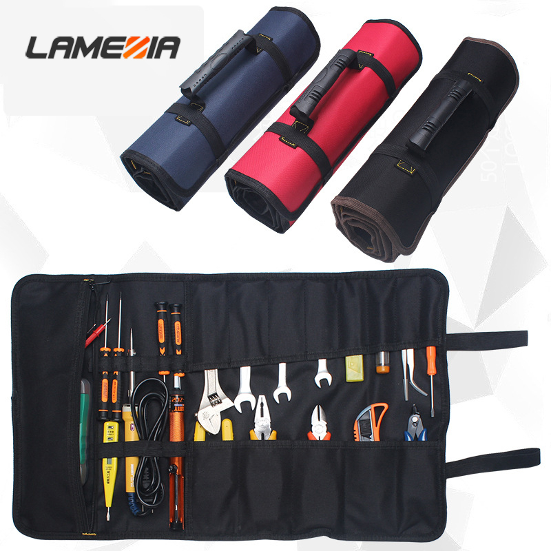 LAMEZIA Multifunction Oxford Cloth Tool Bag Portable Canvas ToolOrganizer Toolkit For Repair Installation