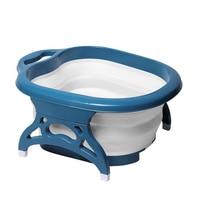 Hangable Travel Large Foot Bath Plain Heightened Massage Roller Thick Home Anti Slip Bucket Portable Foldable Basin