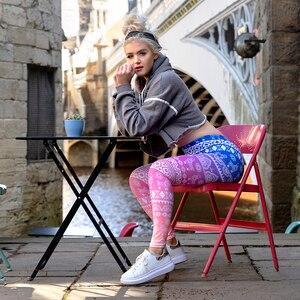 Image 2 - Hot Sales Women Legging Gradient Printing Leggins Slim High Elasticity Legins Fitness Leggings Female Pants