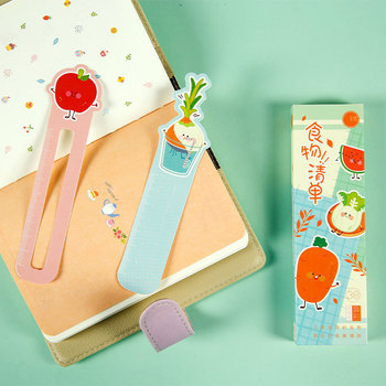 30PCS/Lot Kawaii Bookmarks Food Paper Ruler Book Marker New Books Clips Creative Cute Stationery for Student School Supplies 30pcs set flowers bookmarks message cards book notes paper page holder for books school supplies accessories stationery