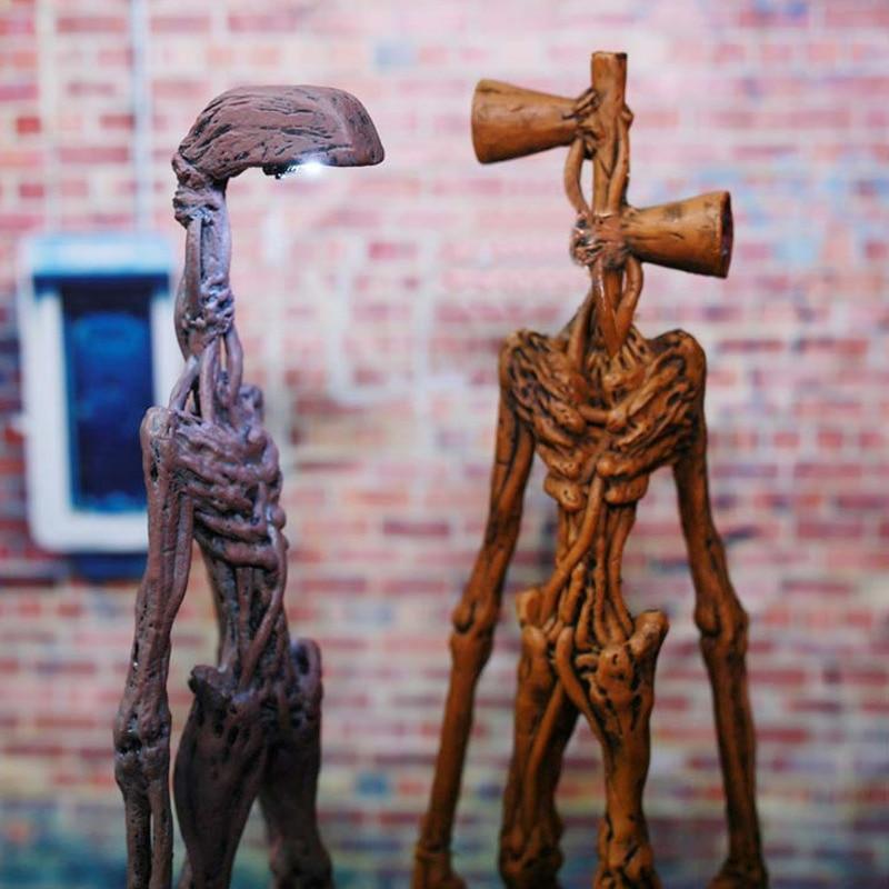 Фигурка SirenHead 20 см, сирена, уличная лампа, модель головы, коллекционная городская легенда, игрушки ужасов SCP 6789, аниме экшн-фигурка, подарок дл...