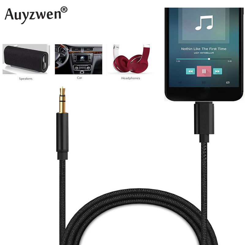 For ALL IOS Syetem 1M Lightning To 3.5mm Audio Adapter Male AUX Headphone Cable Car Converter For Iphone 7 8 XR XS 11 Pro
