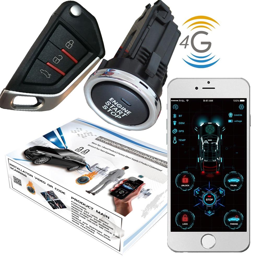 Cardot новейшая Автоэлектроника 4g gps gsm Smart Pke дистанционный стартер БЕСКЛЮЧЕВОЙ вход двигатель старт стоп машина + сигнализация