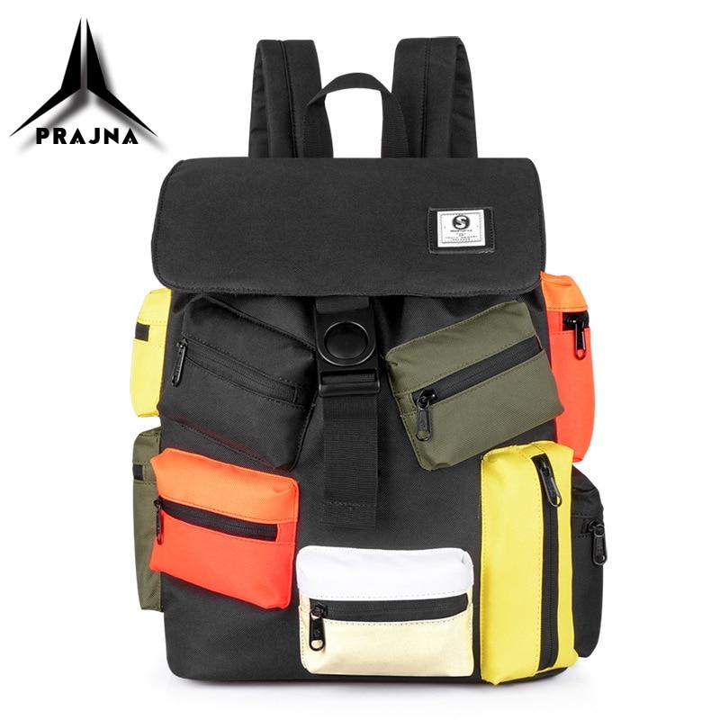 New Men Backpack School Bags Multi-pocket Design USB Charging 15.6 Inch Laptop Bag Large Capacity Waterproof Travel Bag For Male