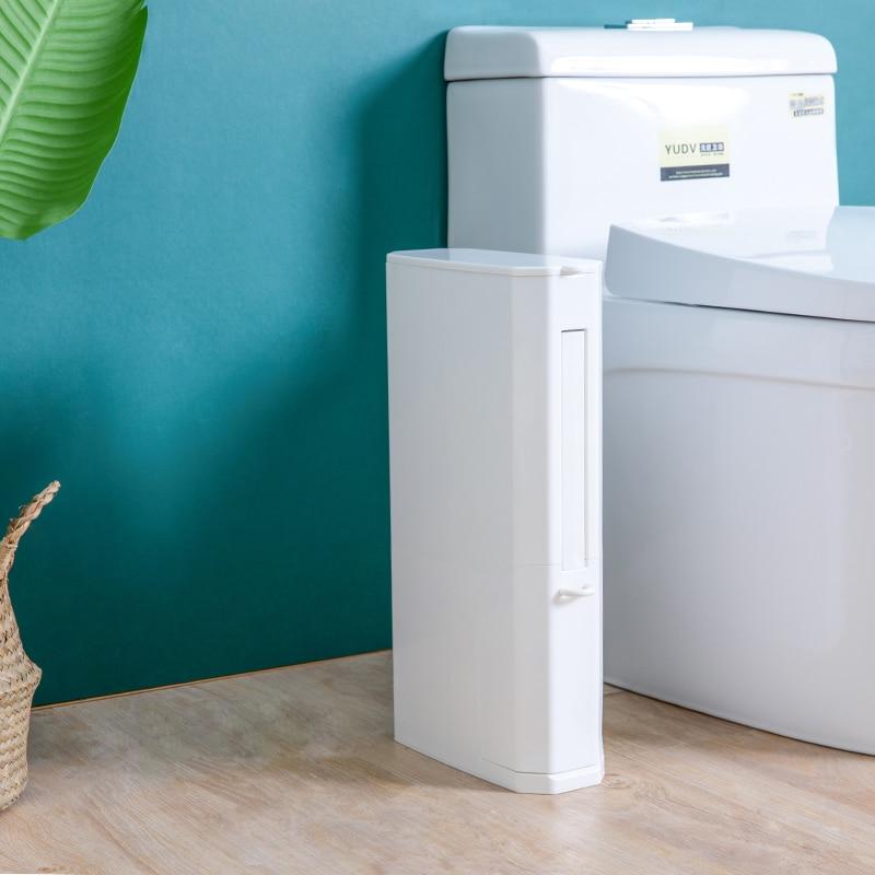 Plastic Trash Can Bathroom Waste Bin Toilet Dustbin Trash Basket Garbage Bucket Garbage Bag Holder Storage Container with brush in Waste Bins from Home Garden