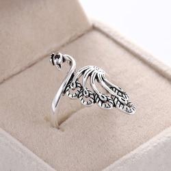 1 sztuk nowy pierścień narzędzie dziewiarskie moda Retro Guppy Finger Wear naparstek przędzy regulowane otwarcie praktyczne pierścienie świadczące o osobowości biżuteria