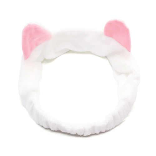 Женская повязка на голову для волос для девочек, милая кошачья Ушная мягкая лента для волос, повязка на голову, Мытье Ванны, спа-инструмент для макияжа, дешевая распродажа