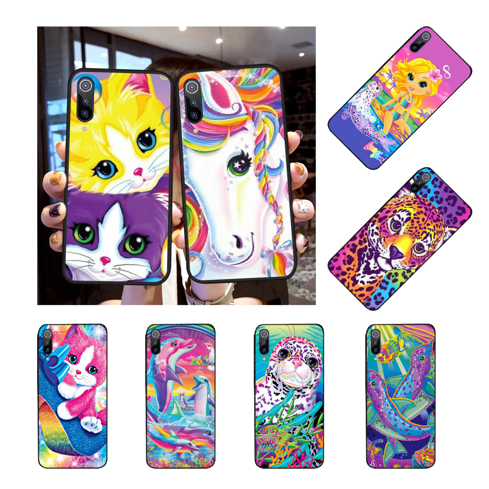 NBDRUICAI Rainbow Lisa Frank tiger horse dog Cat Cover Phone Case for Redmi Note 8 8A 7 6 6A 5 5A 4 4X 4A Go Pro Plus Prime