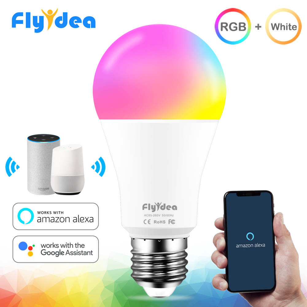 15W Smart Lamp Bulb RGB White 220V Magic Light Bulb 110V LED E27 WiFi Bulbs Timer Function Work Alexa Google Home Smartphone