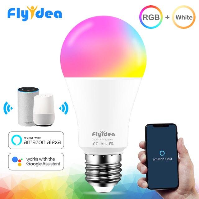 15W Thông Minh Bóng Đèn RGB Trắng 220V Magic Light 110V LED E27 Wifi Bóng Đèn Chức Năng Hẹn Giờ công Việc Alexa Google Home Điện Thoại Thông Minh