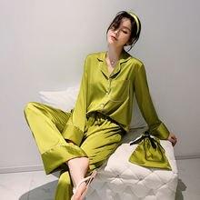 Шелковая атласная Женская пижама sapjon в европейском стиле