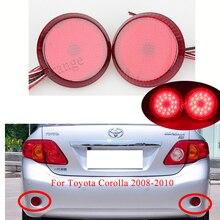 Car 2Pcs For Nissan/Qashqai/Trail/Toyota/Corolla LED Parking Warning Bumper Lamp DC12V Rear Bumper Reflector Tail Brake Light все цены