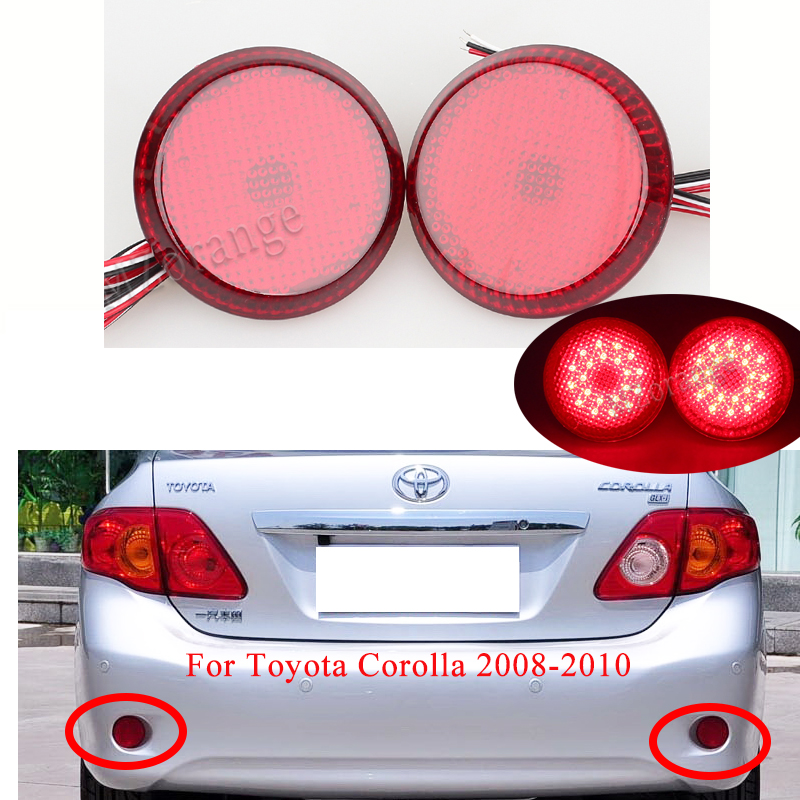 LED Rear Bumper Reflector Lights For Toyota Corolla 2008-2010 Tail Stop Brake Light For Nissan/Qashqai/for Toyota Car Parts