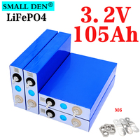 4PCS 3.2v 105Ah LifePo4 batteria 300A 3C alta corrente grande capacità per 12V 24V fai da te sistema solare auto elettrica carrello da golf inverter